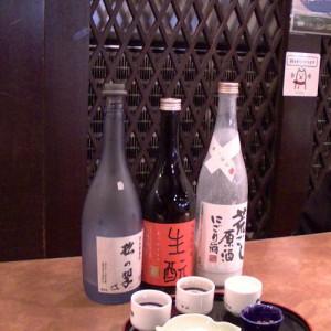 松の翠 純米大吟醸/招徳 生元 純米大吟醸/月桂冠 荒ごし原酒にごり酒