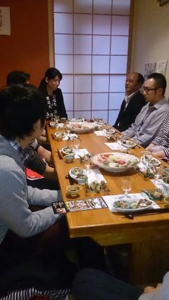 高間酒店店主と千野杜氏と参加者様