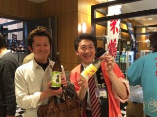 蔵元祭り米鶴の梅津陽一郎社長と撮らせていただきました。