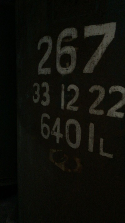 これはタンクの番号と保存できるリッター数