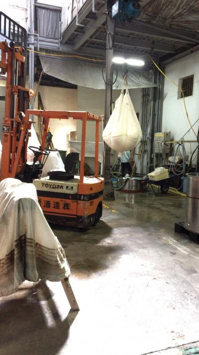 こちらは洗米した米を乾かす場所です。