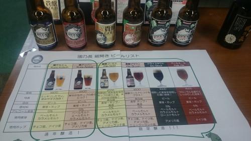 國乃長ビールのラインナップ